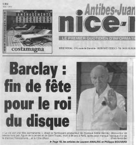 Nice Matin Eddy Barclay